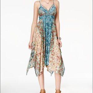 American Rag Handkerchief Hem Midi Dress Size L